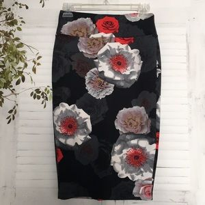 Catherine Malandrino floral stretch pencil skirt